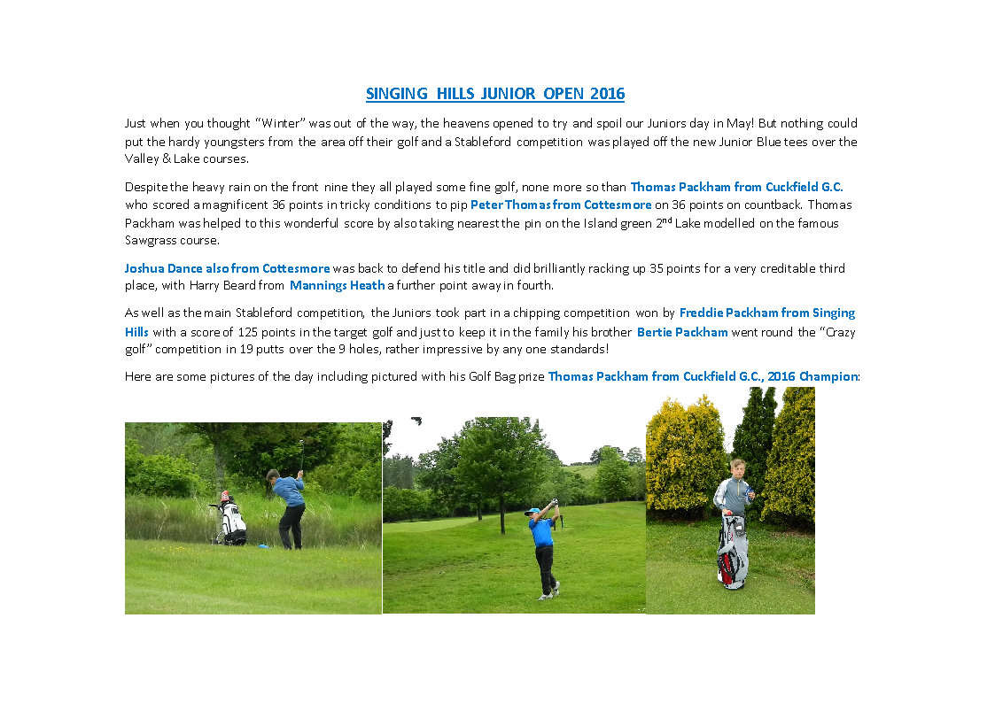 Website newsletter 2016 Juniors Open