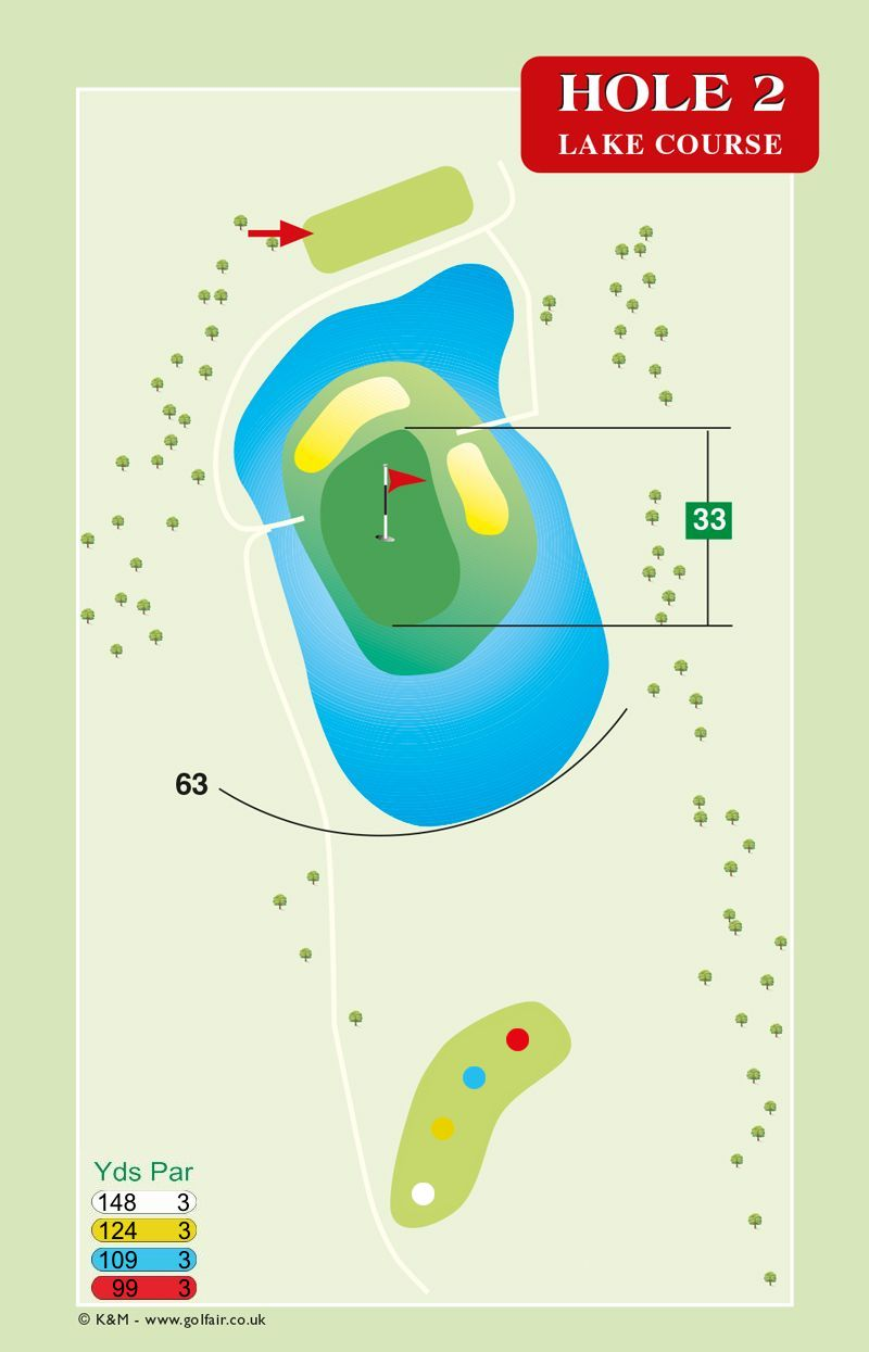 Hole 2 Lake Course