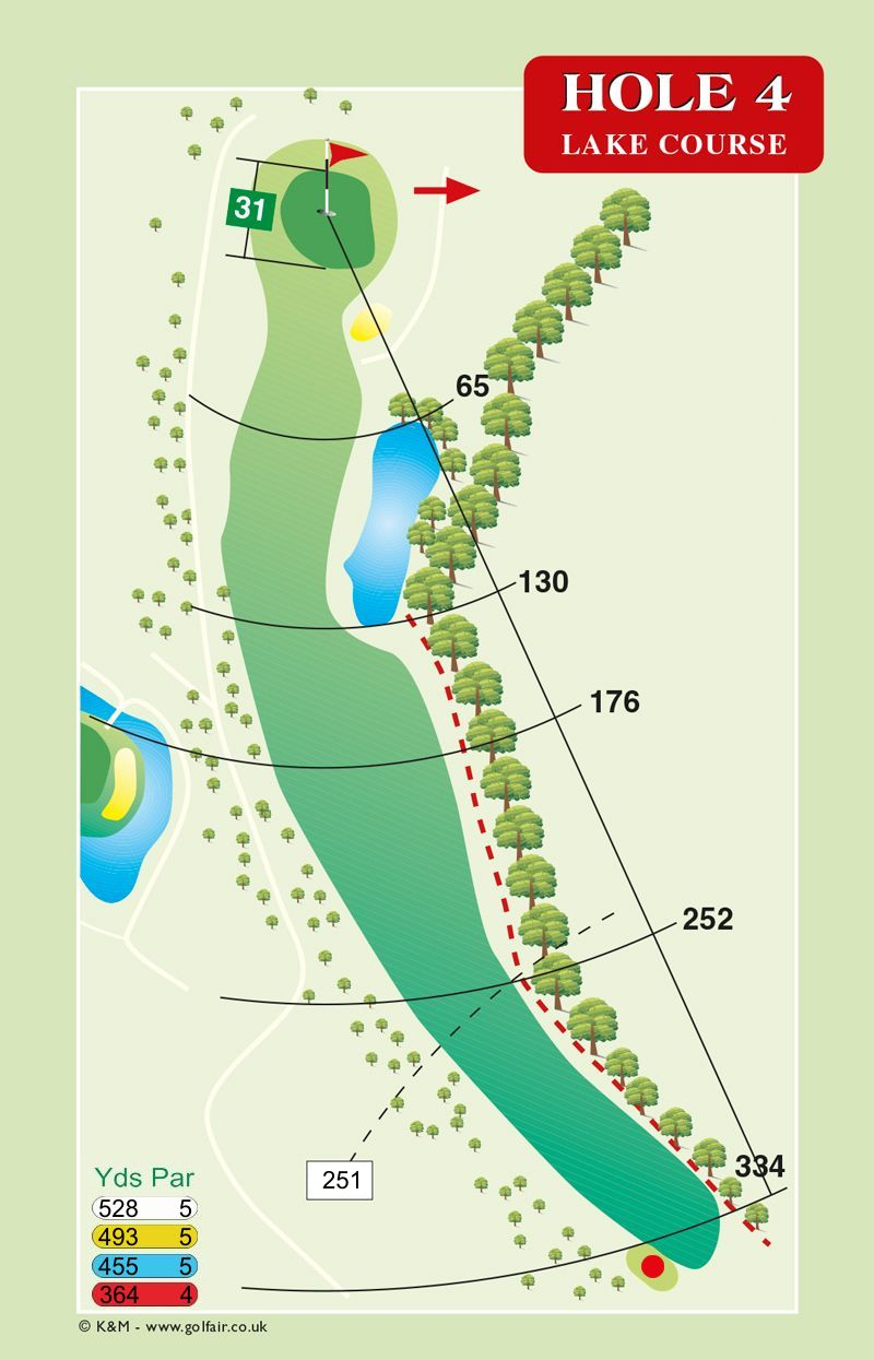 Hole 4 Lake Course
