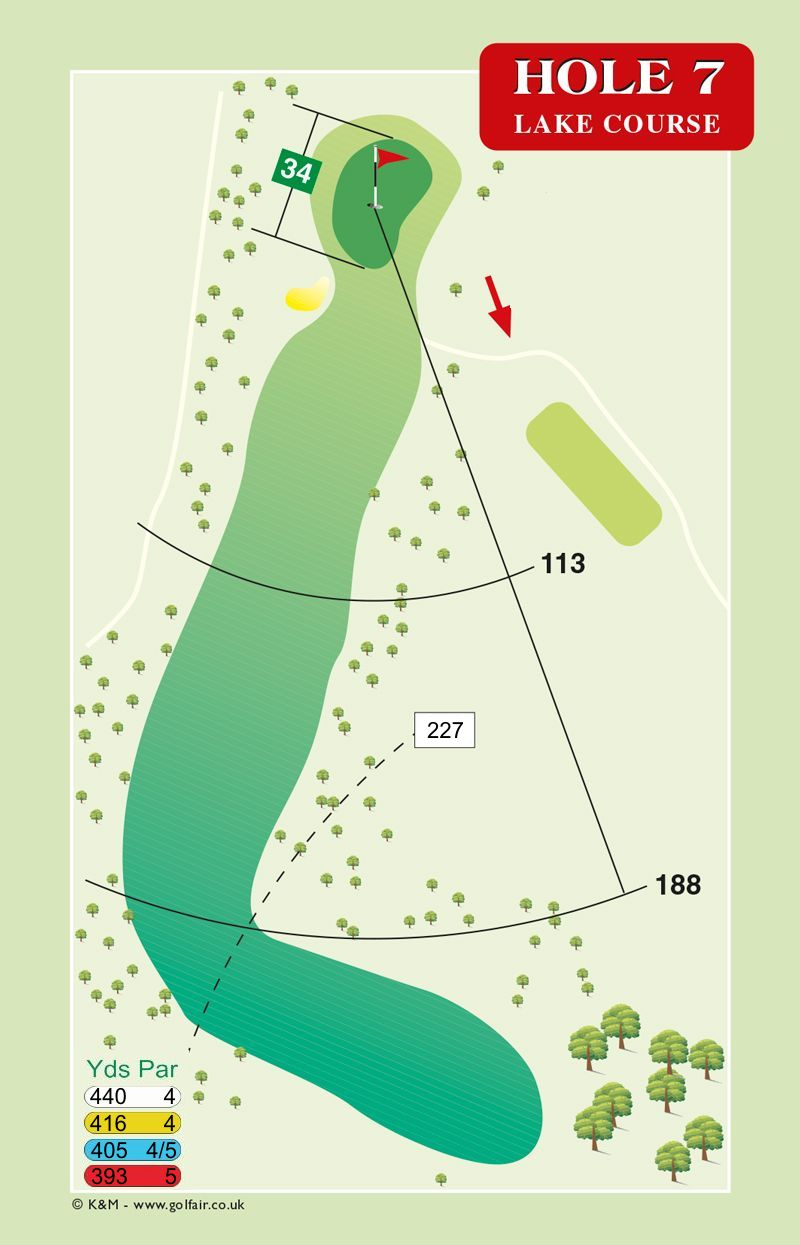 Hole 7 Lake Course