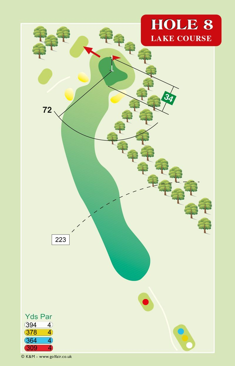 Hole 8 Lake Course