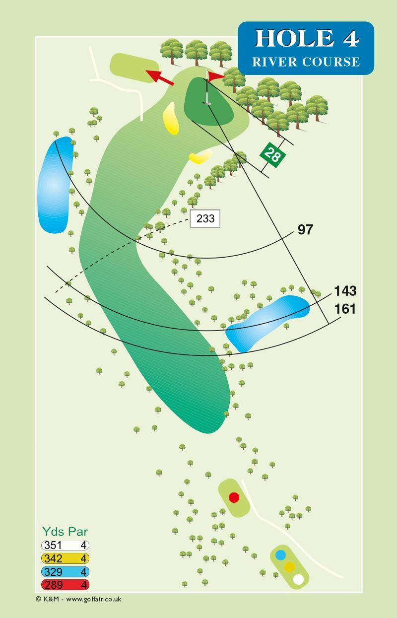 Hole 4 River Course