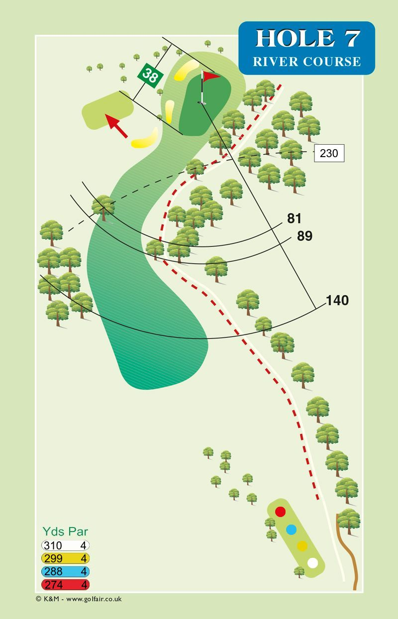 Hole 7 River Course
