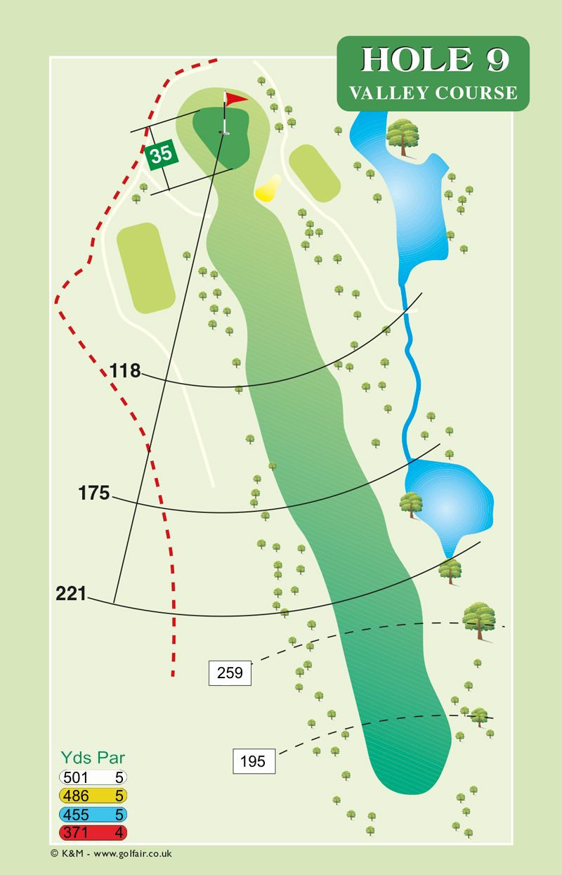 Hole 9 Valley Course