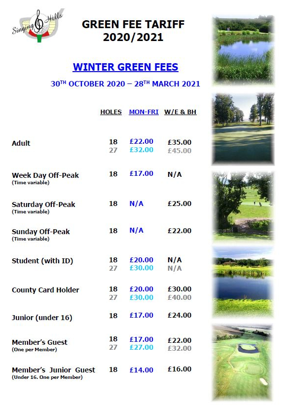 Summer Green fees
