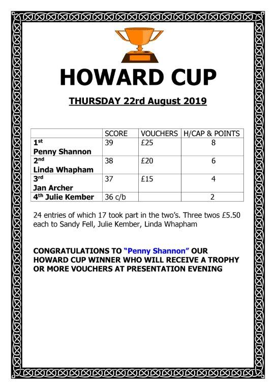 Ladies Howards Cup 2019